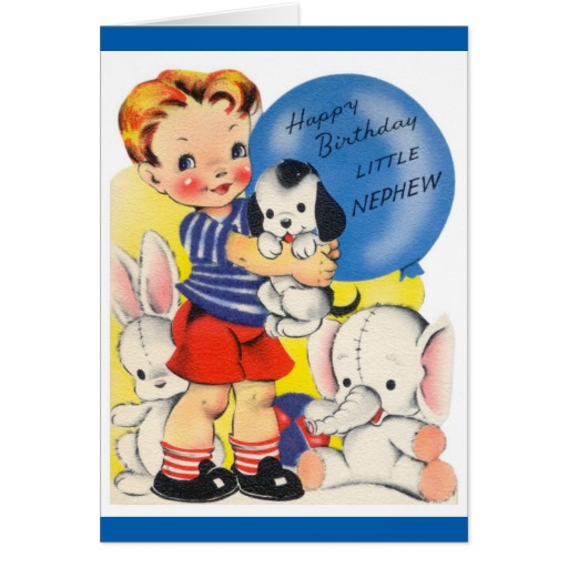 Happy Birthday Little Nephew Fabulous Greeting Card