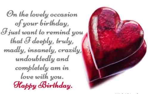 Happy Birthday Love Quotes Image