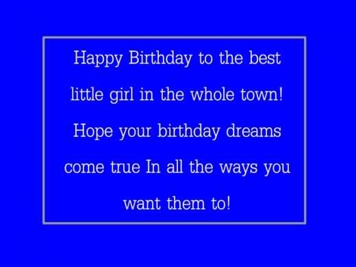 Happy Birthday Message & Greetings For Baby Girl
