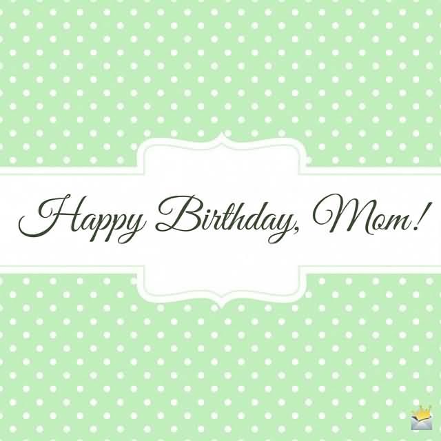 Happy Birthday Mom Greeting Image
