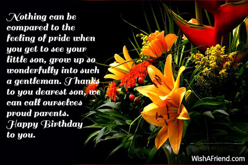 Happy Birthday Nothing Can Be Compared To The Feeling To Pride Image