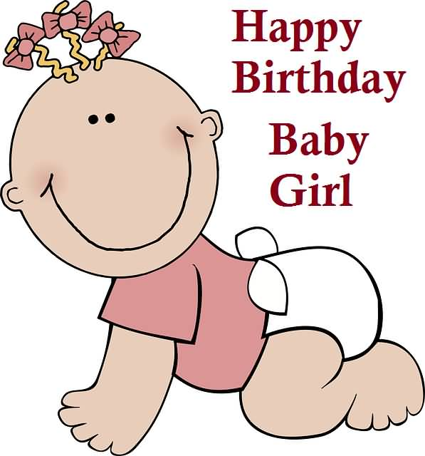 Happy Birthday Picture Card For Baby Girl