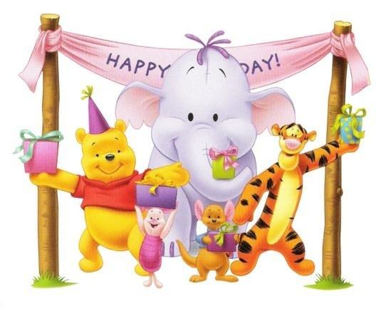 Happy Birthday Pooh & Family Wishes Greeting