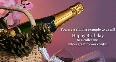 Happy Birthday To A Colleague Greeting Image