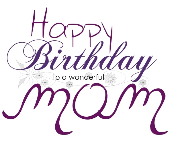 Happy Birthday To A Gorgeous Mom Greeting Card Idea
