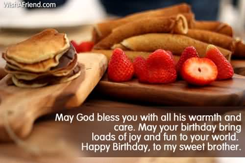 Happy Birthday To My Sweet Brother