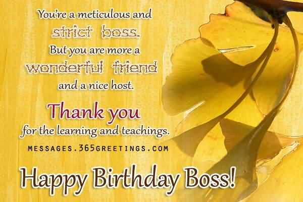 Happy Birthday Wishes & Greetings For Boss