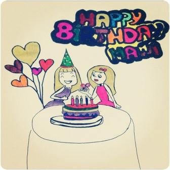 Happy Birthday Wishes Homemade Greeting Card