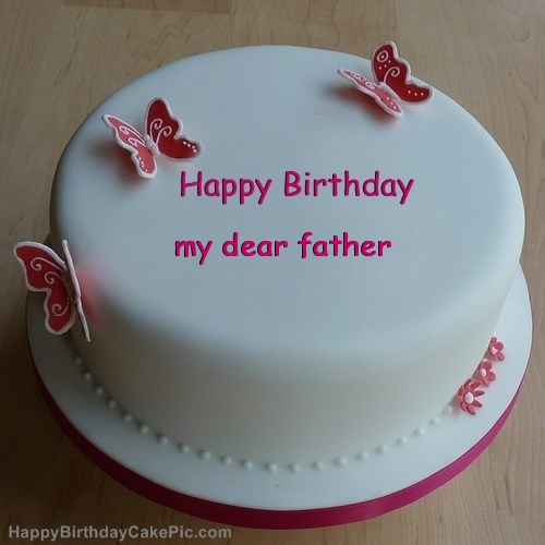 Have A Delicious Birthday Father Wishes Cake Image