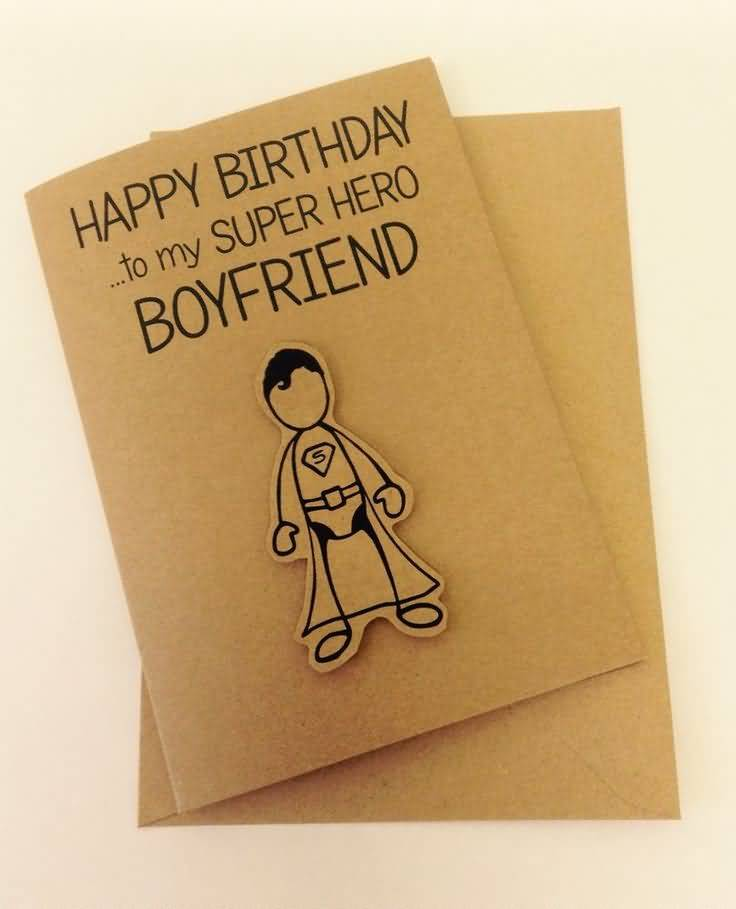 Homemade Greeting Card For Handsome Boyfriend