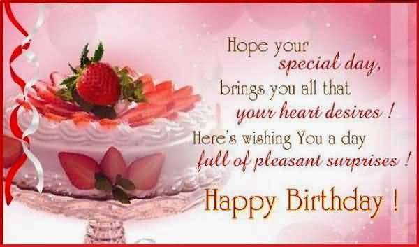 Hope Your Special Day Brings Happy Birthday Colleague
