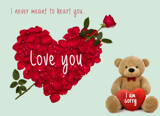 I Am Sorry Teddy Bear Greeting Picture