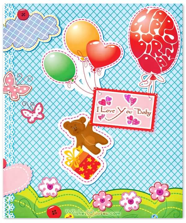 I Love You Baby Greeting Card Wishes