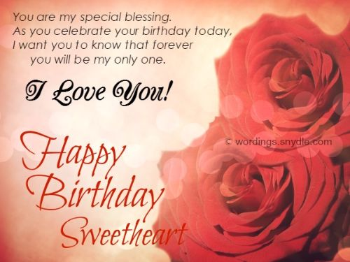 I Want You To Know That Forever You Will Be My Only One Happy Birthday Sweetheart