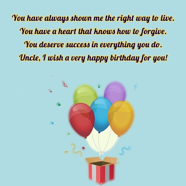I Wish A Very Happy Birthday For Special Uncle