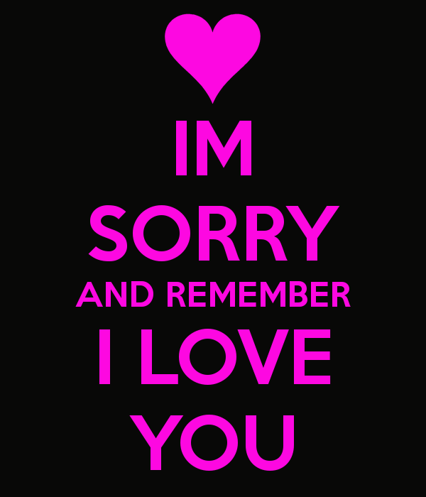 I'm Sorry And Remember I Love You