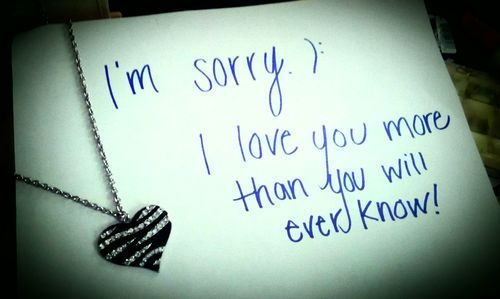 I'm Sorry I Love You More Than You Will Ever Know Message Greeting