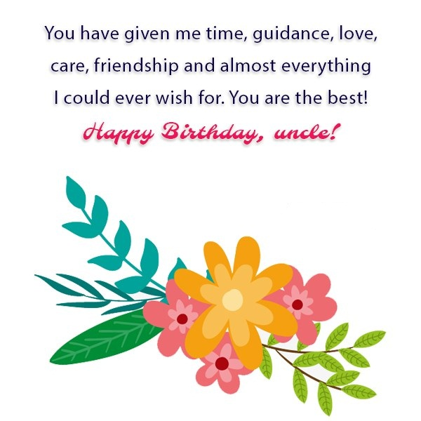 Love Care Friendship And Almost Everything Happy Birthday Uncle