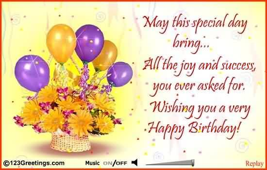 May This Special Day Brings All The Joy Happy Birthday Colleague
