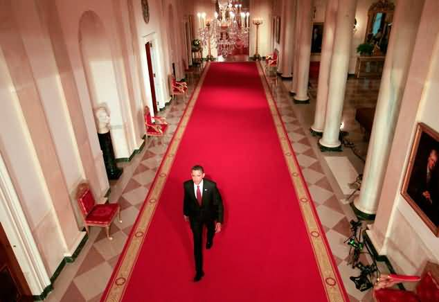 Mind Blowing Barack Obama Walks On Red Carpet Inside The White House Photo
