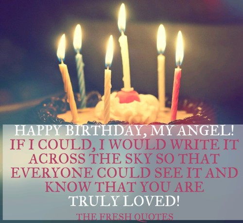 My Angel If I Could I Would Truly Loved Happy Birthday