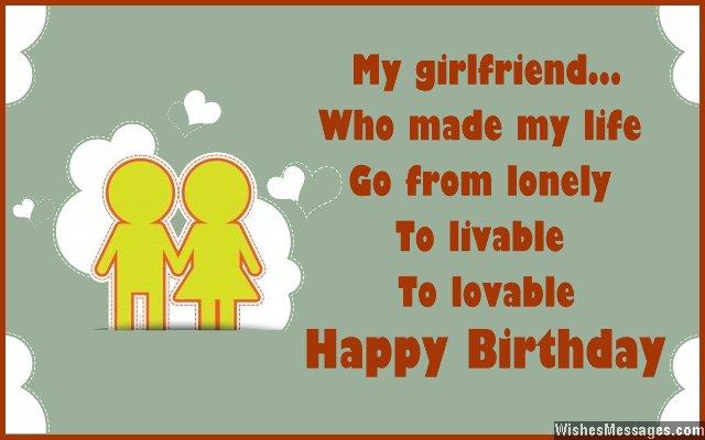 My Girlfriend Who Made Happy Birthday Girlfriend