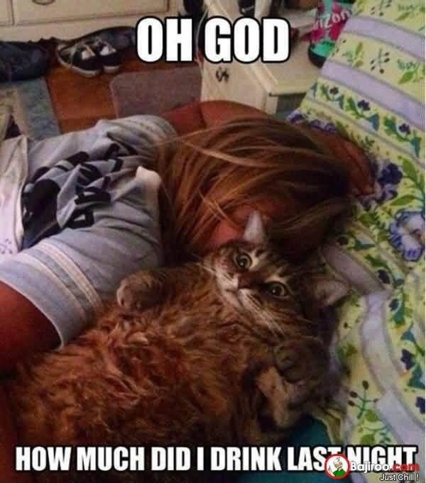 Oh God How Much Did I Drink Last Night Drunk Meme