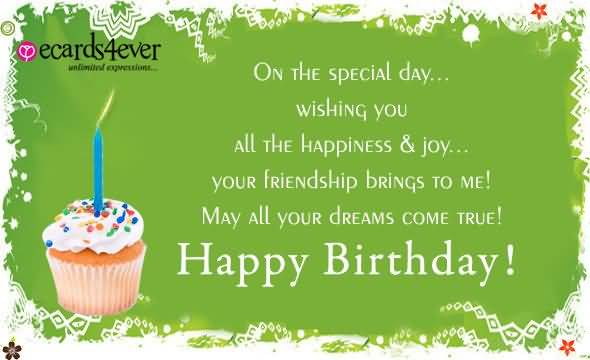 On The Special Day Wishing You Happy Birthday Colleague