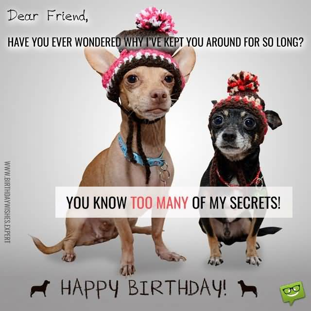 So Long You Know Too Many Of My Secrets Happy Birthday Colleague