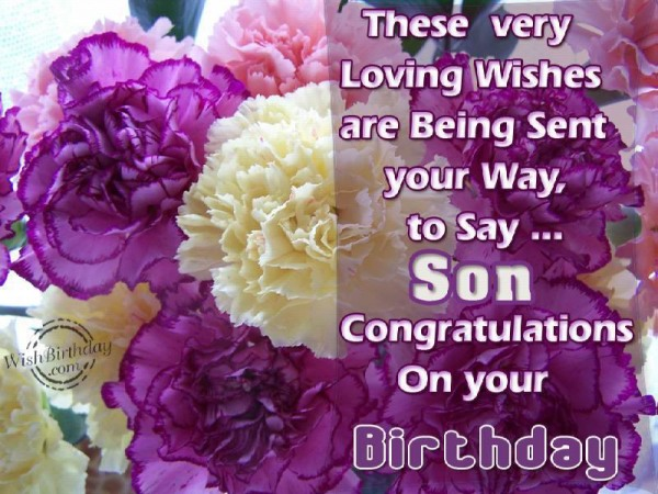 Son Congratulation On Your Birthday Wishes