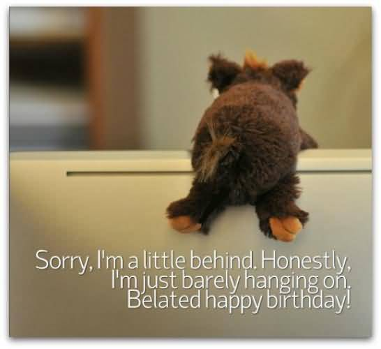 Sorry I Am A Little Behind Honesty I Am Just Barely Hanging On Belated Happy Birthday
