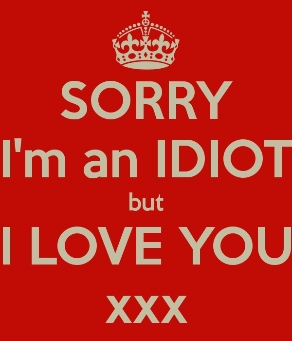 Sorry I'm An Idiot But I Love You Image