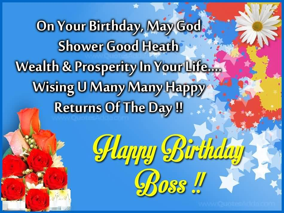 Special Birthday Greeting To My Fabulous Boss Image