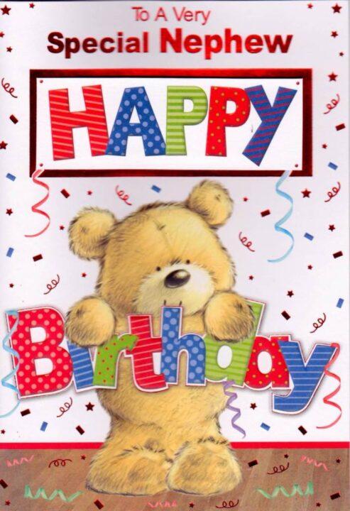 Special Nephew Happy Birthay Greeting Card Wishes