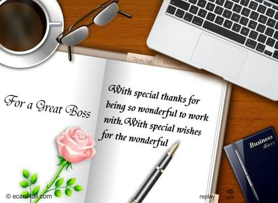Special Wishes For The Wonderful Boss