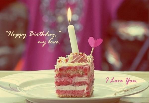 Sweet Cake For Love Happy Birthday