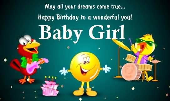 Sweet Happy Birthday Wishes For Baby Girl