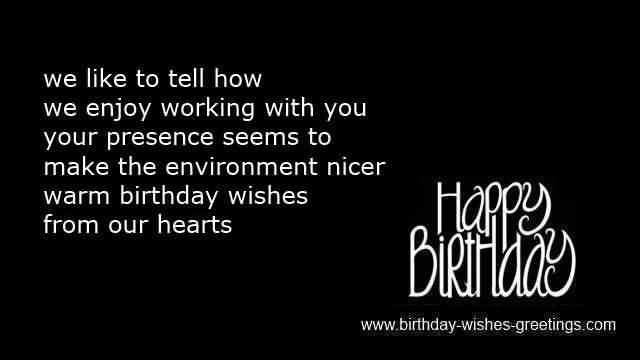 We Enjoy Working With You Happy Birthday Colleague