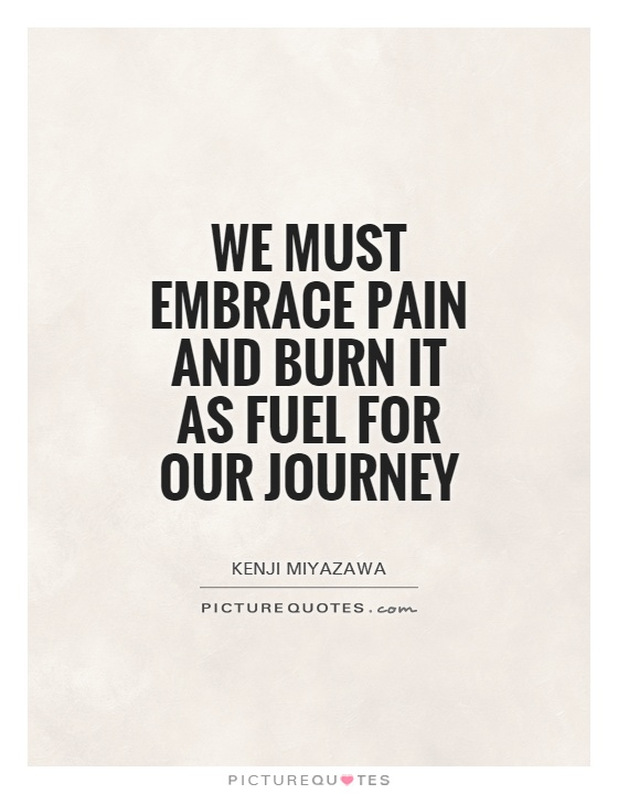 We must embrace pain and burn it as fuel for our Kenji Miyazawa