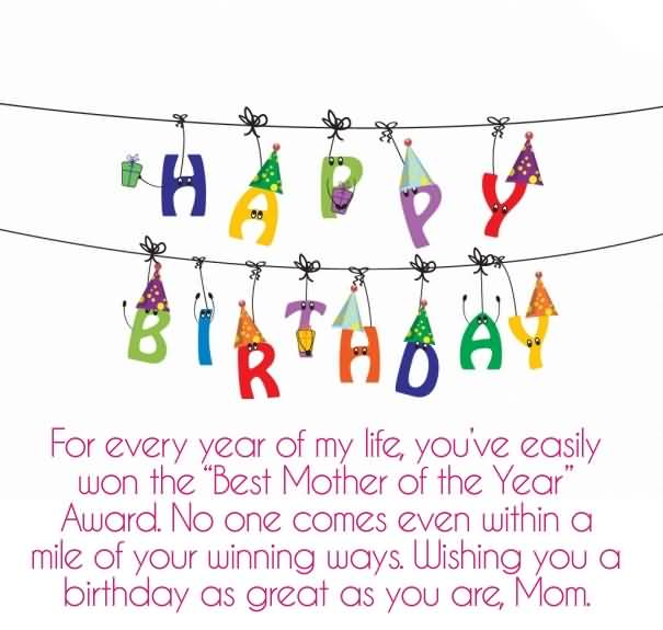 Wishing You A Birthday As Great As You Are Mom