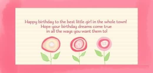 Wonderful Birthday Poem For Baby Girl