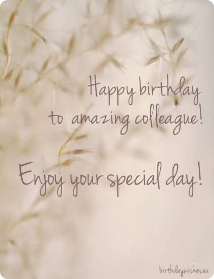 Wonderful Birthday To Amazing Colleague Greeting Image