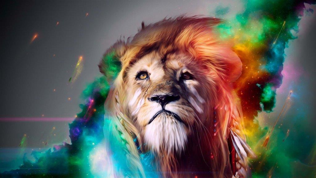 Wonderful Colorful Lion In 4k Wallpaper