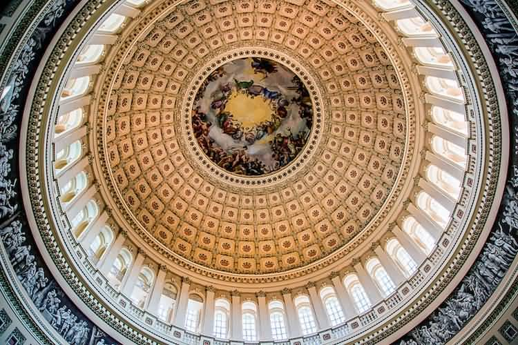 Awesome Creativity Dome Inside The United States Capitol For Wallpaper