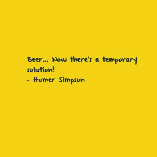 Beer Now Theres A Temporary Solutionhomer Simpson