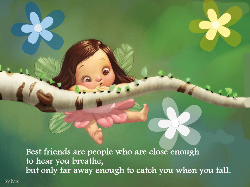 best friends are people who are close enough to hear you breath but only far away enough to catch you when you fall