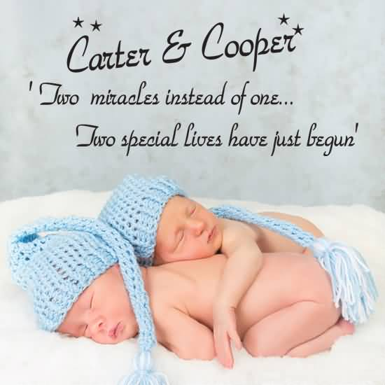 Carter Cooper Two Miracles Instead Of One Two Special Lives Have Just Begun