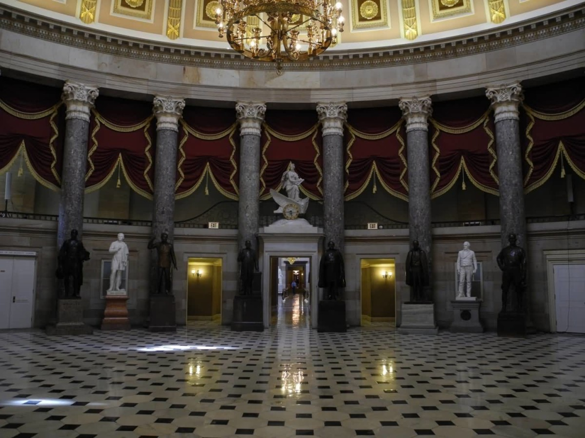Coolest Statues In United States Capitol Rotunda View