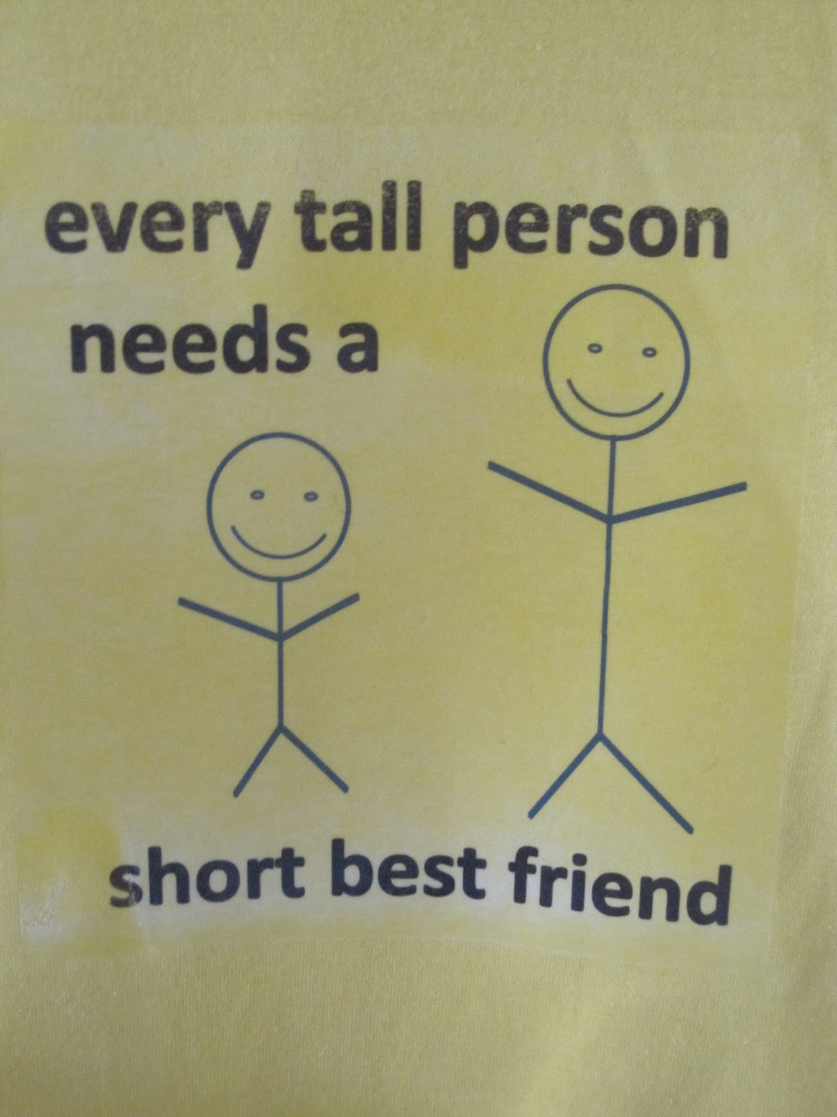 every tall person needs a short best friend.