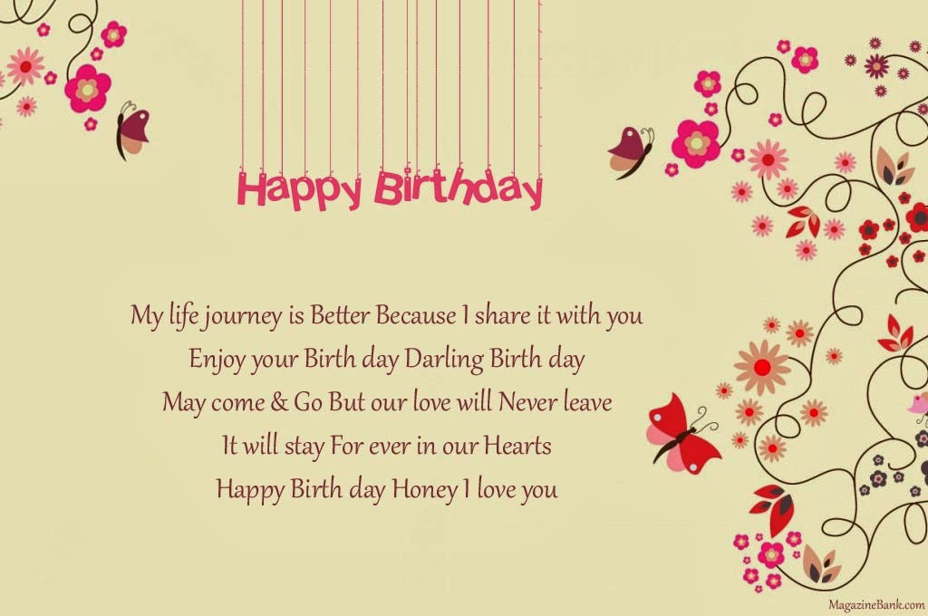 happy birthday my life journey is better because i share it with – Happy Birthday Greeting Text